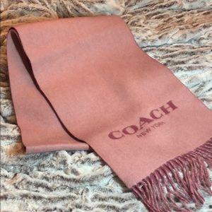 COACH Double Faced Muffler Scarf Petal Pink - NWT